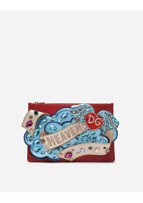 Dolce & Gabbana Mini Bags and Clutches - MEDIUM CLEO BAG WITH 3D PATCH AND APPLICATIONS RED
