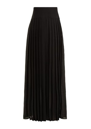 By. Bonnie Young - Pleated Wide Leg Trousers - Womens - Black