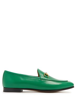 Gucci - Jordaan Leather Loafers - Womens - Green