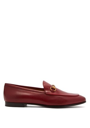 Gucci - Jordaan Leather Loafers - Womens - Red