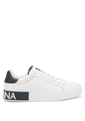 Dolce & Gabbana - Low Top Leather Logo Trainers - Mens - White