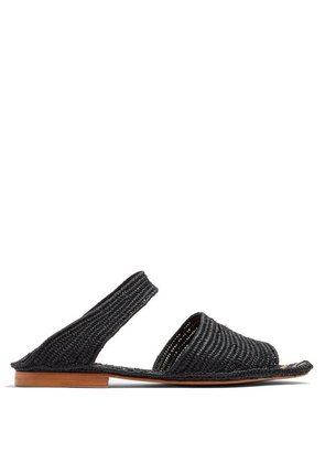 Carrie Forbes - Ahmed Raffia Sandals - Womens - Black