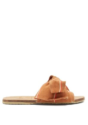 Brother Vellies - X Ace & Jig Burkina Slides - Womens - Brown Multi