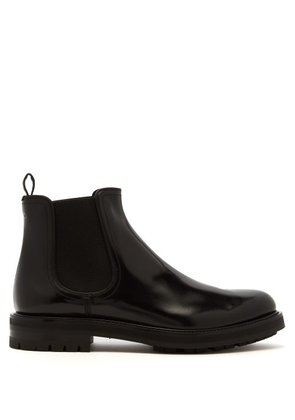 Dolce & Gabbana - Leather Chelsea Boots - Mens - Black
