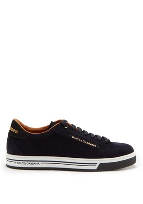 Dolce & Gabbana - Low Top Suede Trainers - Mens - Blue