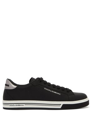 Dolce & Gabbana - Low Top Leather Trainers - Mens - Black