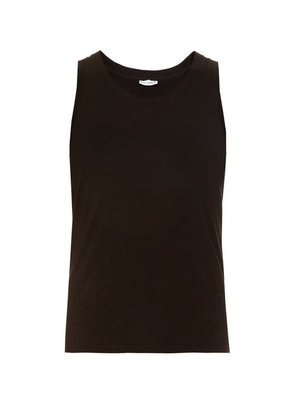 Dolce & Gabbana - Set Of Two Cotton Jersey Vests - Mens - Black
