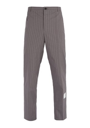 Thom Browne - Pinstripe Cotton Trousers - Mens - Grey