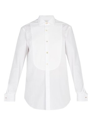 Paul Smith - Double Cuff Curved Bib Cotton Evening Shirt - Mens - White