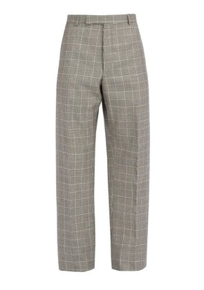 Thom Browne - Houndstooth Wool Trousers - Mens - Black White