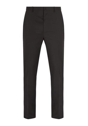 Lanvin - Slim Leg Wool Trousers - Mens - Black