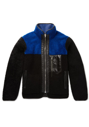 Aries - Reversible Shearling And Leather Jacket - Black
