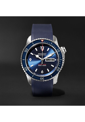 Bremont - Supermarine S500 Automatic 43mm Stainless Steel And Rubber Watch - Blue