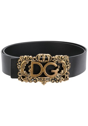 Dolce & Gabbana framed logo buckle belt - Black