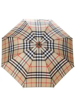 Burberry Giant Exploded Check Walking Umbrella - Neutrals