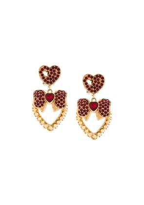 Dolce & Gabbana heart bow earrings - Metallic