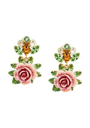 Dolce & Gabbana rose clip-on earrings - Pink