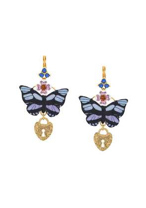 Dolce & Gabbana butterfly locket earrings - Zoo00