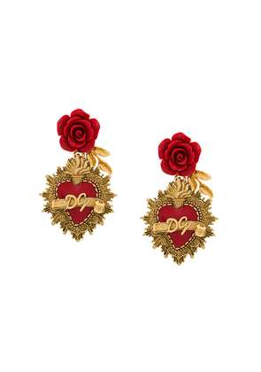 Dolce & Gabbana Sacred Heart earrings - Metallic