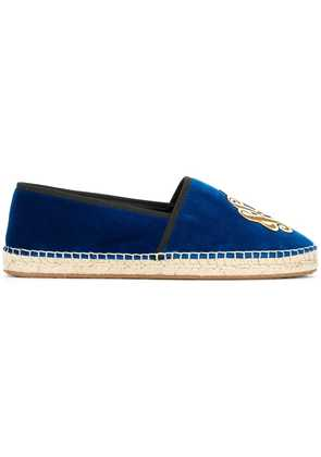 Dolce & Gabbana King Of Hearts embroidered espadrilles - Blue