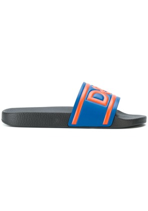 Dolce & Gabbana branded slide sandals - Blue