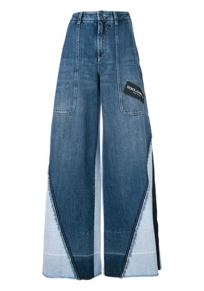 Dolce & Gabbana panelled wide leg jeans - Blue