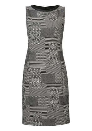 Akris Punto printed shift mini dress - Black