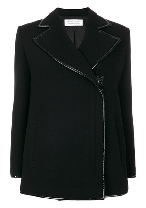Gianluca Capannolo off centre fastening jacket - Black