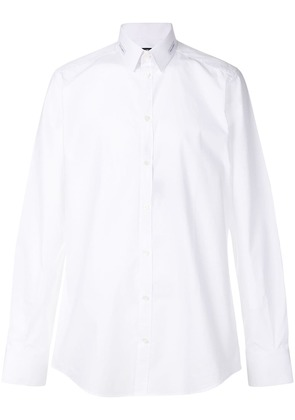 Dolce & Gabbana logo patch collar shirt - White
