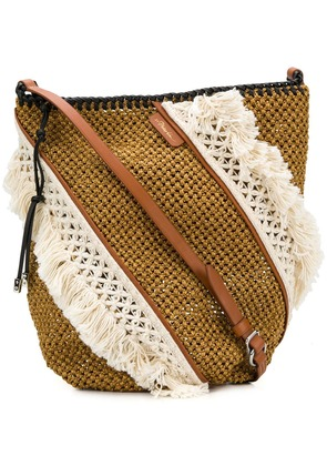 3.1 Phillip Lim fringe-trim shoulder bag - Brown