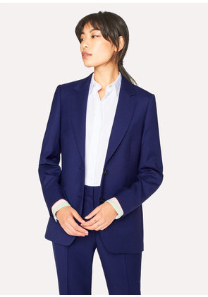A Suit To Travel In - Women's Indigo Two-Button Wool Blazer