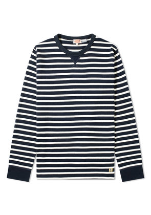 Armor-Lux 78008 Stripe Crew Sweat Rich Navy & Natural