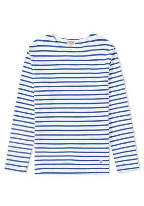 Armor-Lux 02297 Long Sleeve Mariniere Tee White & Blue