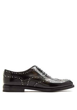 Church's - Burwood Stud Embellished Leather Brogues - Womens - Black