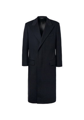 Dunhill - Wool And Cashmere-blend Overcoat - Navy