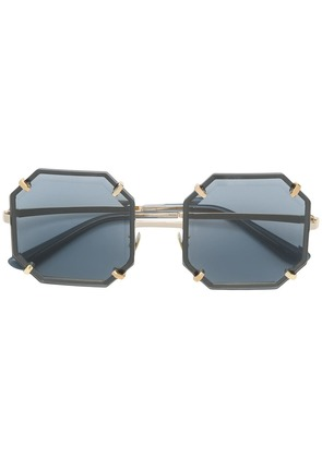 Dolce & Gabbana Eyewear hexagonal metal sunglasses - Grey