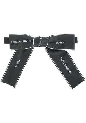 Dolce & Gabbana Queen ribbon tie - Black
