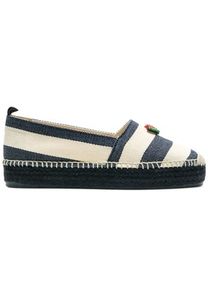 Castañer striped espadrilles - Blue
