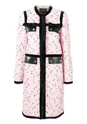 Giambattista Valli dotted single breasted coat - Pink