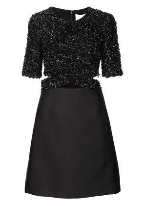 3.1 Phillip Lim sequin top satin dress - Black
