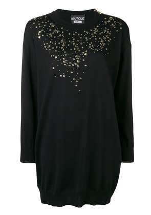 Boutique Moschino star studded sweater dress - Black