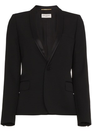 Saint Laurent Iconic Le Smoking Cropped Blazer - Black