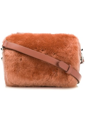 Desa 1972 fur camera crossbody bag - Pink
