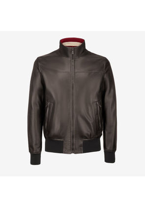 Bally Nappa Leather Jacket Black, Men's lamb nappa leather jacket in black