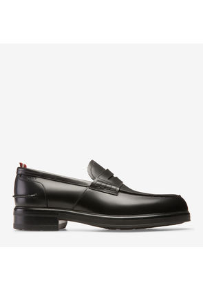 Bally Mody Black, Men's calf leather penny loafers in black