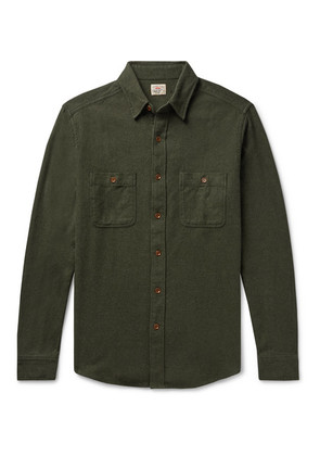 Faherty - Cotton-flannel Shirt - Dark green