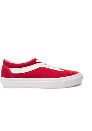 Vans - Staple Bold Ni Suede And Leather Sneakers - Red