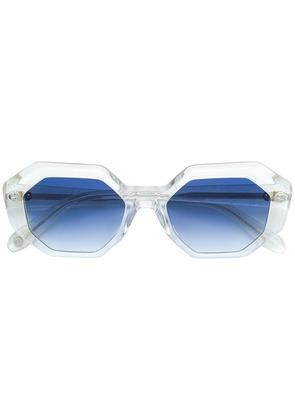 Garrett Leight oversized tinted sunglasses - Blue
