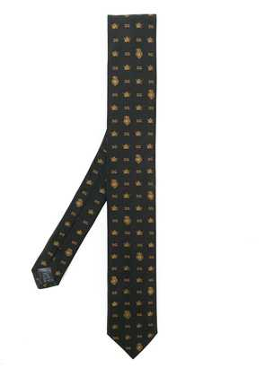 Dolce & Gabbana monogram crown & crest tie - Brown