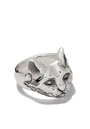 The Great Frog cat ring - Silver